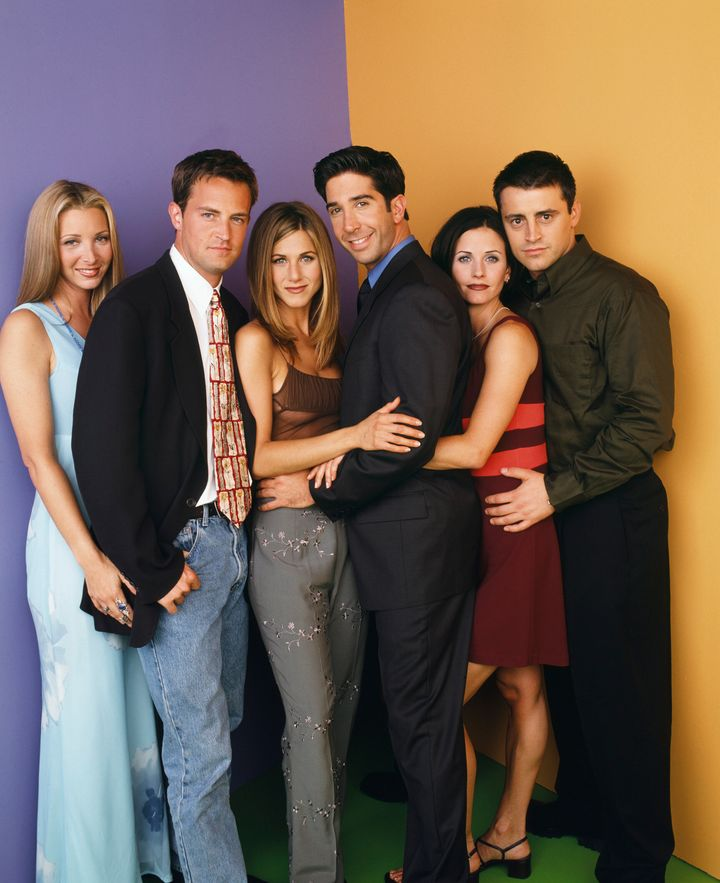 The cast of Friends pictured during the height of the show's popularity