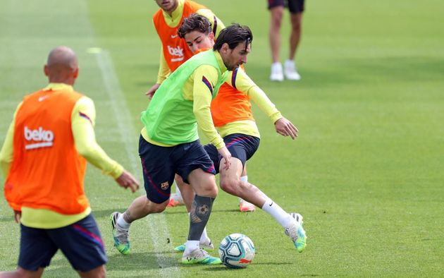 Lionel Messi, ici à l'entraînement avec le FC Barcelone, le 8 juin