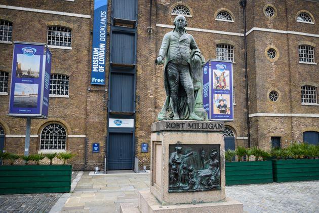 A statue of the West Indies slaver Robert Milligan currently sits outside the Museum of London