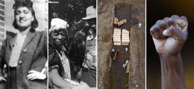 Da sinistra: Henrietta Lacks; studio sulla sifilide di Tuskegee; tombe di massa nel Bronx per l'emergenza...