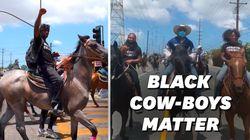 À Los Angeles, ces cow-boys noirs manifestent contre les
