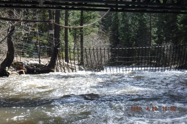 Fencing and razor wire are strung across the Pecos River on the Hersh property.