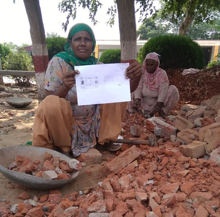 Ranjeet Kaur, a construction worker registered with the Punjab government did not receive the state government's aid of Rs 6,