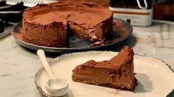 Tarta de chocolate, mascarpone y