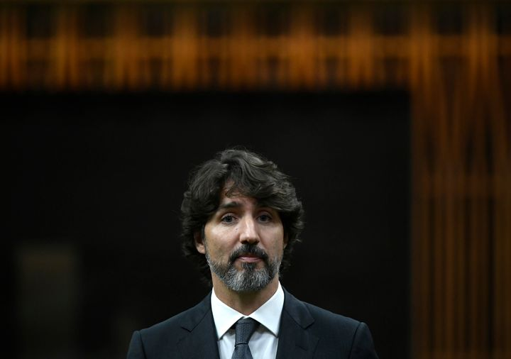 Prime Minister Justin Trudeau rises in the House of Commons on June 9, 2020.