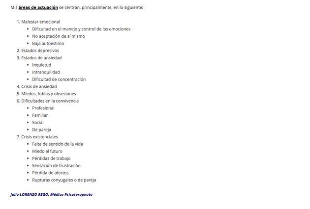 Página web de Julio Lorenzo