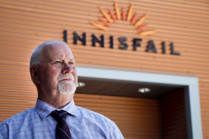 Innisfail mayor Jim Romane is seen in Innisfail, Alta. on June 9, 2020.