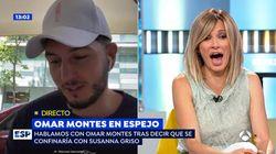 Susanna Griso se queda con esta cara tras la loca proposición de Omar Montes en 'Espejo