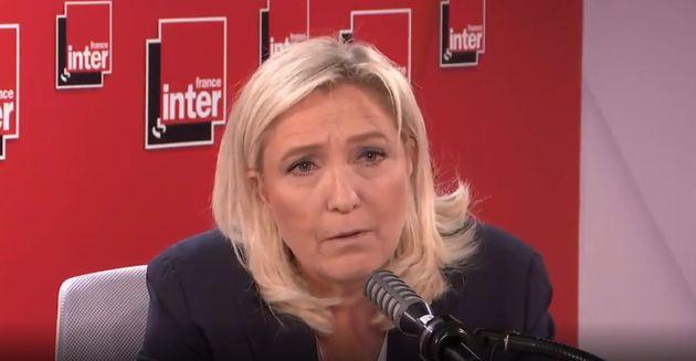 Marine Le Pen sur le plateau de France inter mercredi 10