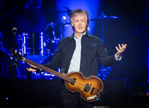 LONDON, ENGLAND - DECEMBER 16: Paul McCartney performs live at The O2 Arena on December 16, 2018 in London,...