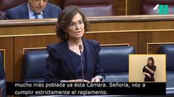 Carmen Calvo y su rotunda respuesta, en una sola frase, a Álvarez de