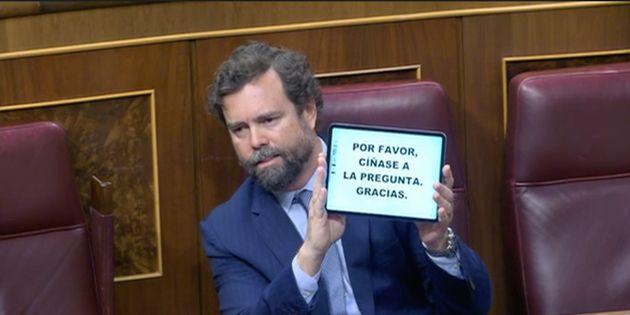 Iván Espinosa de los Monteros, este miércoles en el Congreso de los