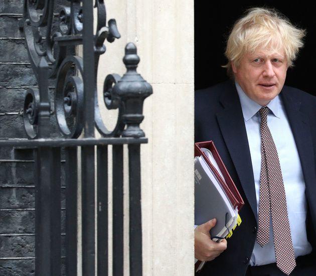 Boris Johnson leaves 10 Downing
