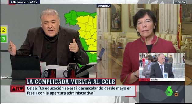 Isabel Celaá, este miércoles en 'Al rojo