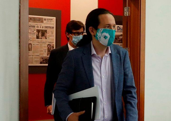 Pablo Iglesias, en la rueda de prensa posterior al Consejo de Ministros del 9 de junio.