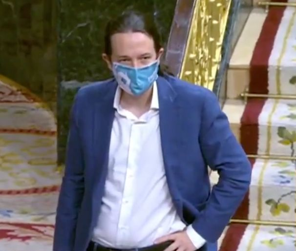 Pablo Iglesias este miércoles en el Congreso.
