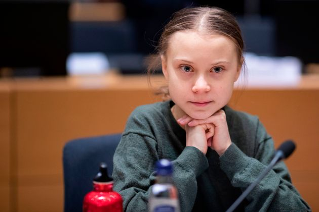 Swedish environmentalist Greta Thunberg sits for a meeting in Brussels on March 5, 2020. Thunberg wants...