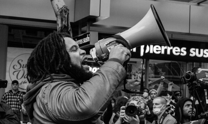 Hip-hop artist Mazbou Q. organized a Black Lives Matter protest in New Zealand after a police officer killed George Floyd in
