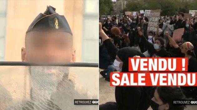 Lors d'une manifestation antiraciste à Paris, un gendarme a été insulté et vilipensé par la