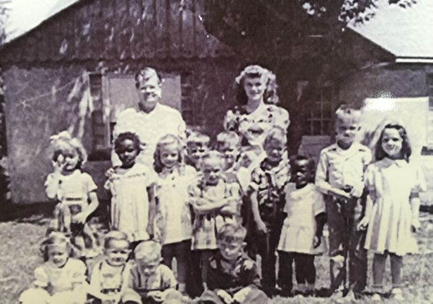 The author (third from the right) with her primary Sunday school class at the Assembly of God Church in Wallowa, Oregon, in 1950.