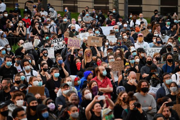 ニューヨークのデモの様子