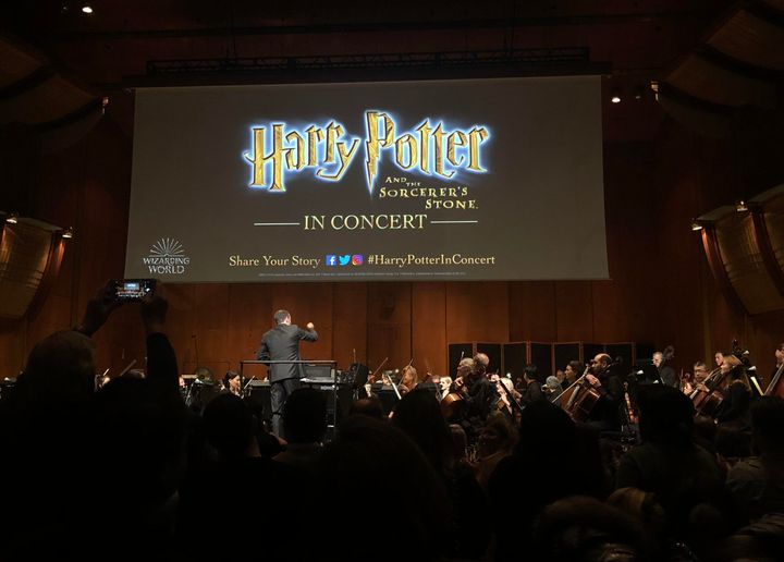 "Dana Aliya Levinson attended a screening of ""Harry Potter and the Sorcerer's Stone,"" with the New York Philharmonic pla"