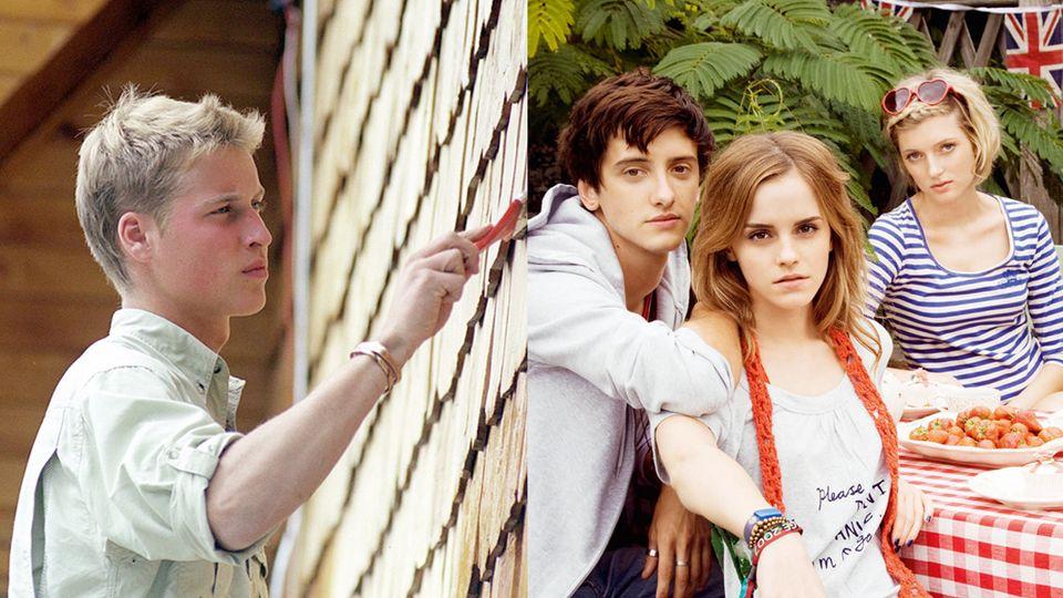 칠레에 간 윌리엄 왕자(왼쪽), 자신이 디자인한 'People Tree, Love Emma' 컬렉션 화보 속 엠마