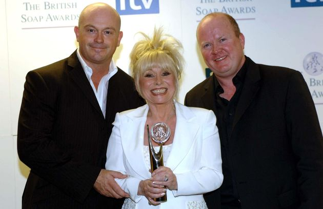 Barbara Windsor with Ross Kemp and fellow EastEnders star Steve