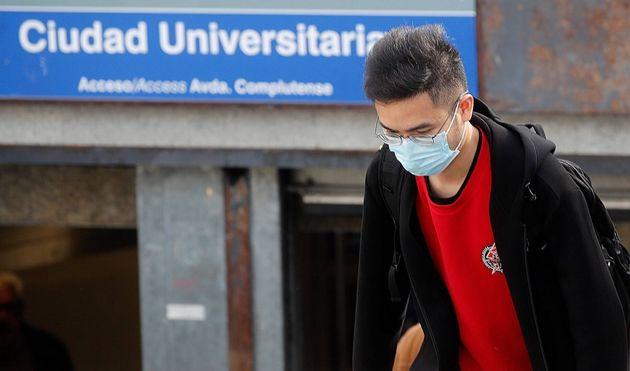 Imagen de archivo de un estudiante en Ciudad Universitaria,