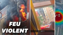 Les images d'un incendie impressionnant dans le sud de