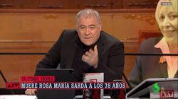 La despedida en directo de un afectado Ferreras a Rosa María Sardà: