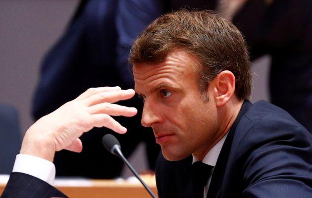 L'Elysée dément qu'Emmanuel Macron -ici lors d'un sommet de l'Otan en juin 2019- ait envisagé...