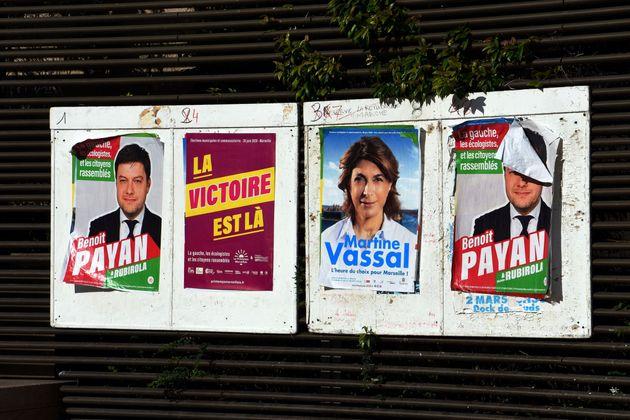 Les affiches électorales du second tour des élections municipales à