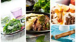 Κυριακάτικο Τραπέζι: Σαλάτα μαρούλι, κοτόπουλο γεμιστό και τούρτα παγωτό από την σεφ Ντίνα