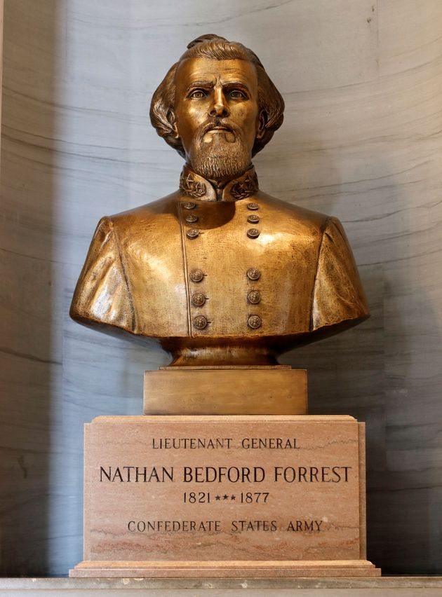 The bust has been a controversial addition to the Capitol since it was erected in