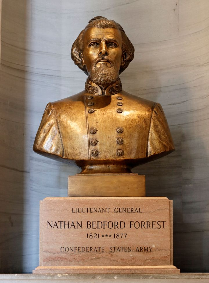 The bust has been a controversial addition to the Capitol since it was erected in 1978.