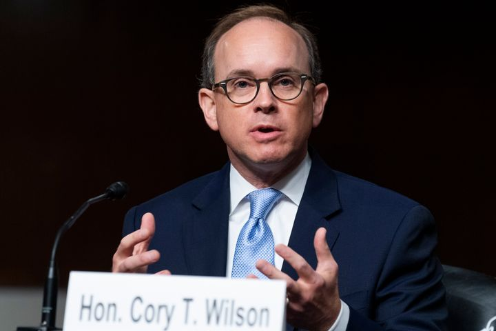 Cory T. Wilson, nominee to be U.S. circuit judge for the Fifth Circuit Court of Appeals, testifies during his Senate Judiciar