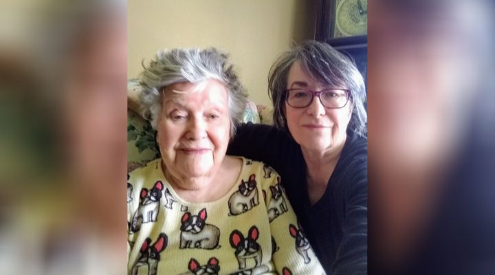 Dilys Patterson and her mom, Joan, in an undated photo. Dilys took her mom out of long-term care after a resident at her home tested positive for COVID-19.