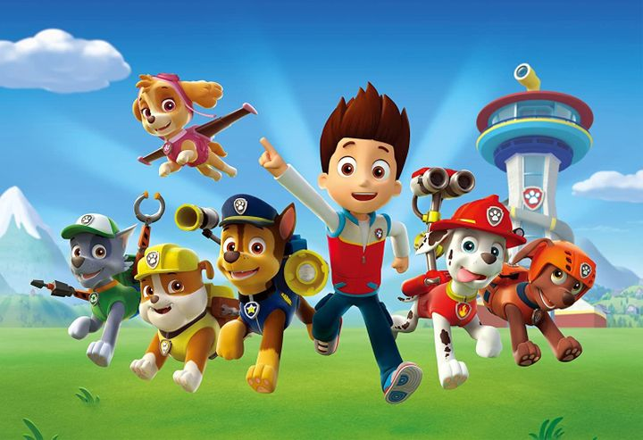 """Paw Patrol,"" a cartoon featuring a group of canine rescuers, is mega-popular among young children."