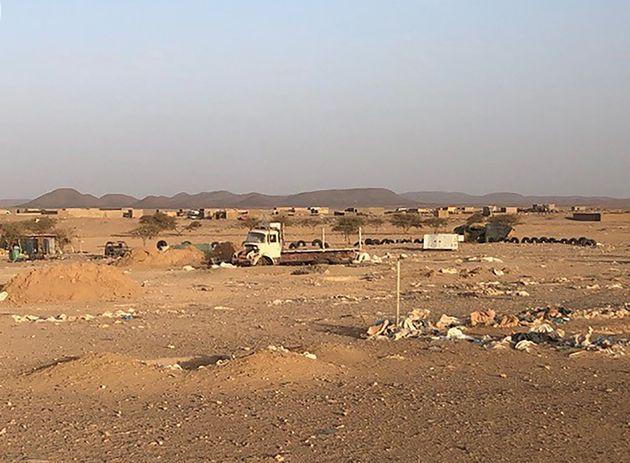 Une photo prise le 28 mai 2020 montrant le village de Talhandak, à environ 80 km au nord-ouest...