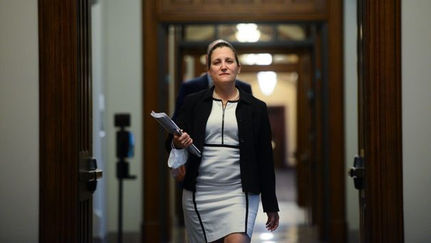 Deputy Prime Minister arrives for a news conference on Parliament Hill on June 10,