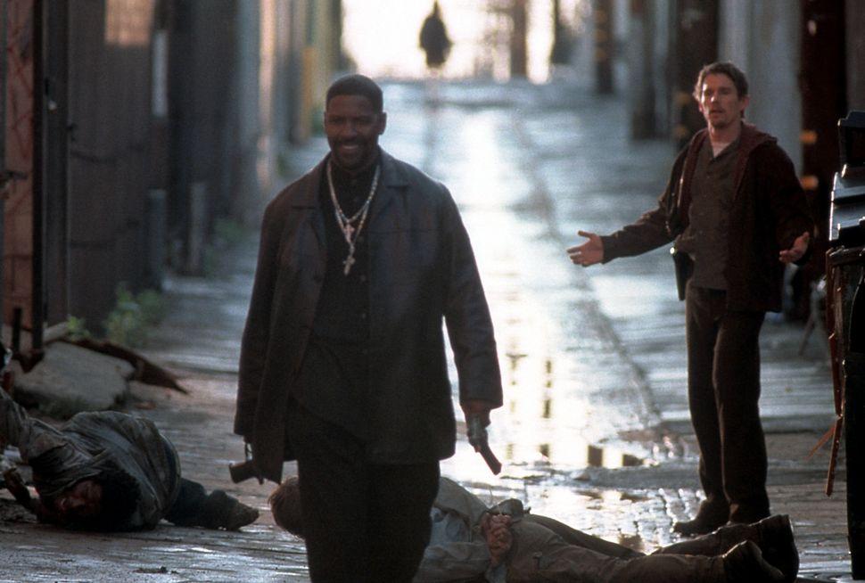 """Denzel Washington and Ethan Hawke in """"Training Day."""""""