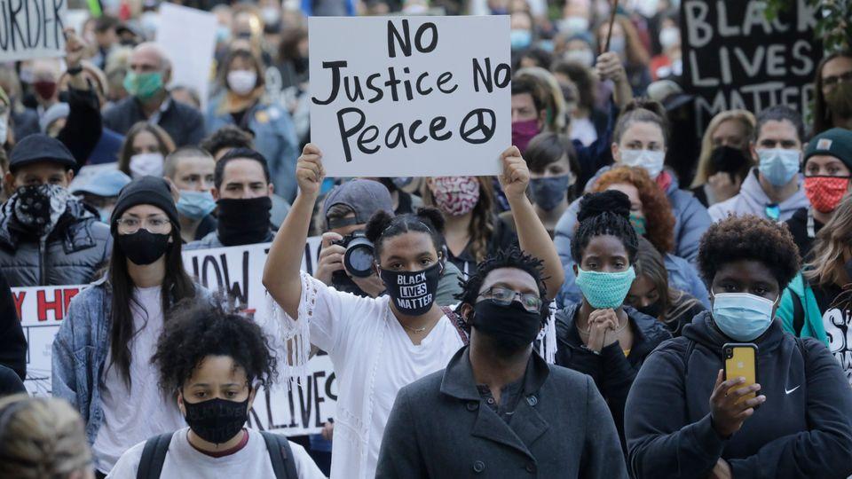A Black Lives Matter protest in Salt Lake