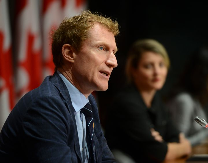 Minister of Indigenous Services Marc Miller takes part in a press conference on Parliament Hill amid the COVID-19 pandemic in Ottawa on June 11, 2020.