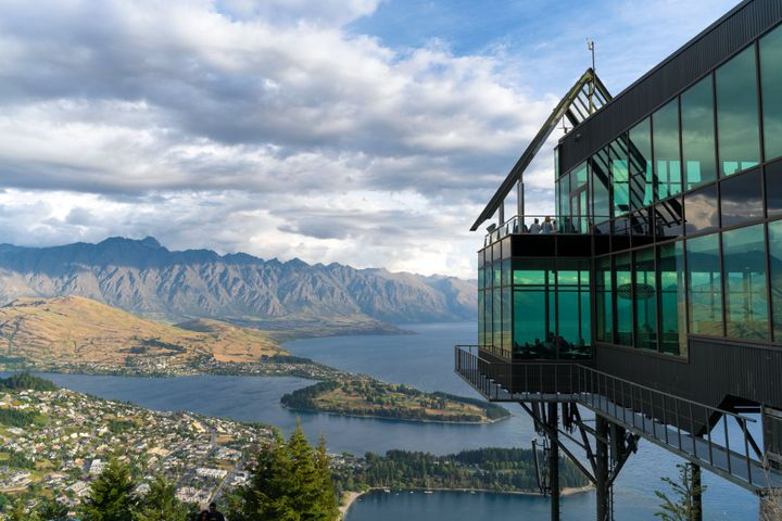 Skyline park and a view of Queenstown, New Zealand.