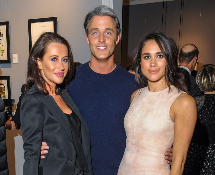 Jessica Mulroney with Ben Mulroney and Meghan Markle in Toronto on March 22, 2016.