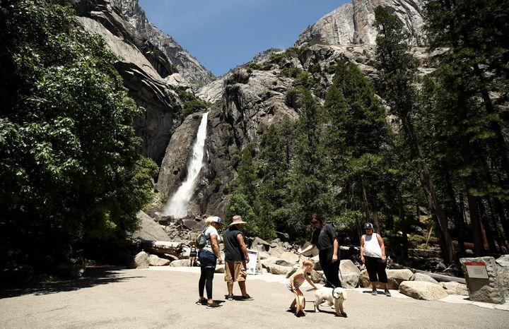 Visitors Thursday at Yosemite National Park in California.