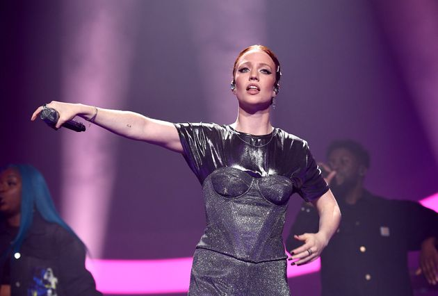 Jess Glynne performing at Wembley Arena in October last