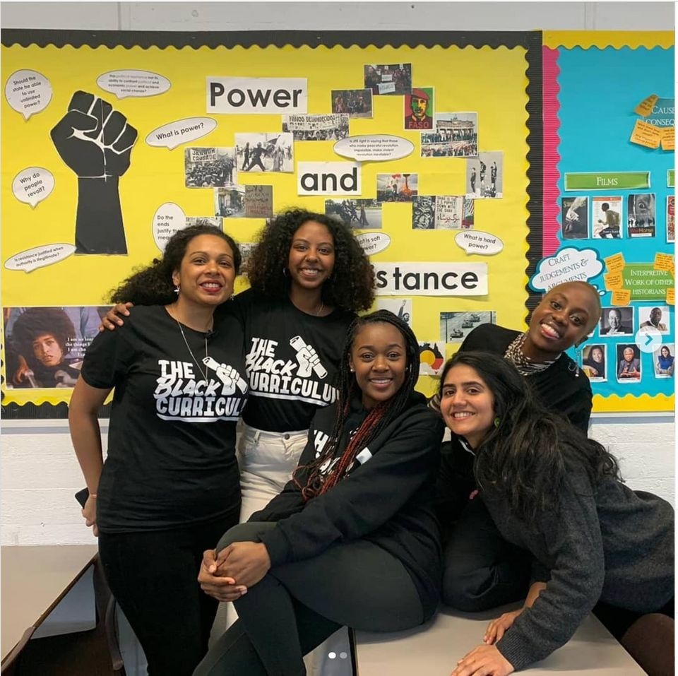 Activists from the initiative The Black