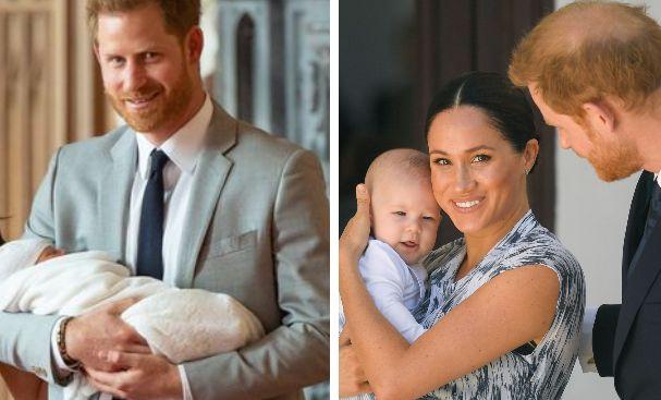 Il principe Harry, la moglie Meghan Markle e il figlio